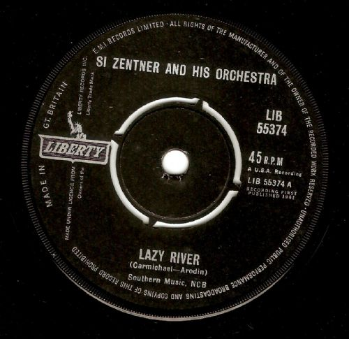 SI ZENTNER Lazy River Vinyl Record 7 Inch Liberty 1962